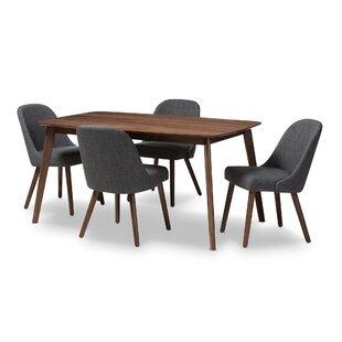 Croom Mid-Century 5 Piece Dining Set