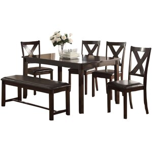 Maria 6 Piece Dining Set by A&J Homes Studio