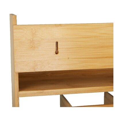 Bamboo54 Double Bamboo Wall Shelf & Reviews   Wayfair