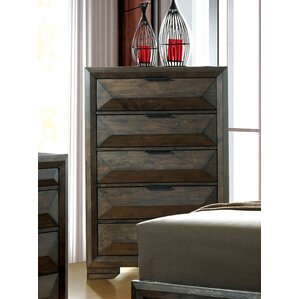 Bender Contemporary 5 Drawer Chest by ..