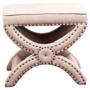 Marhta Avenue Nailhead Trim Ottoman by Darby Home Co
