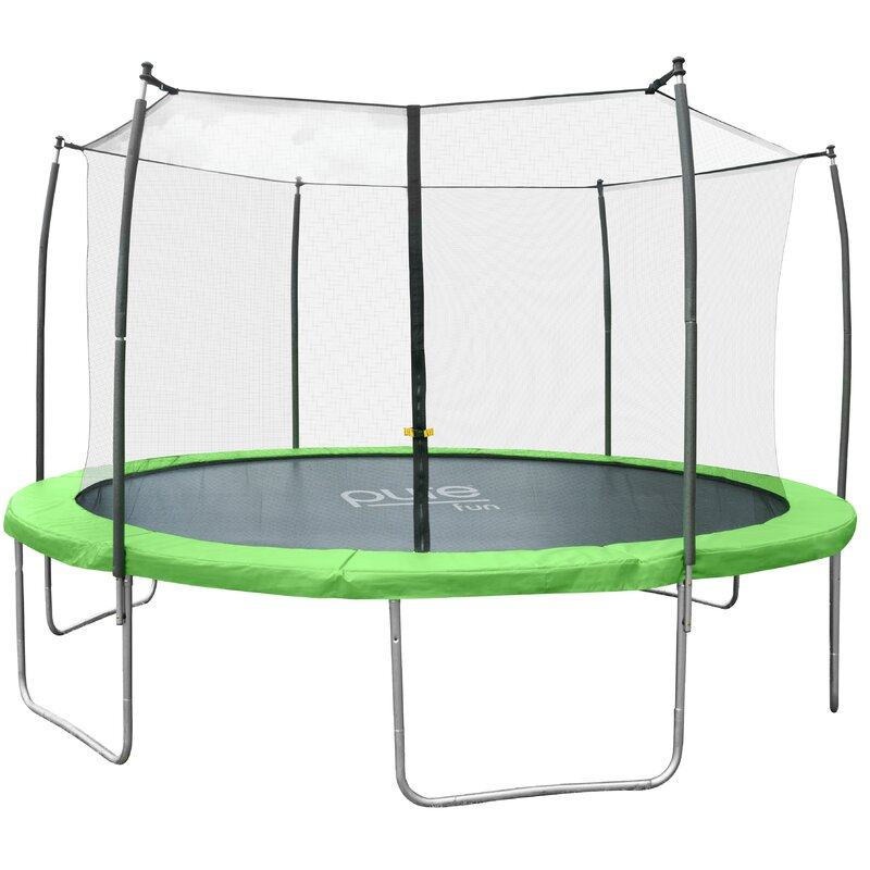 15' W Dura-Bounce Round Trampoline with Safety Enclosure