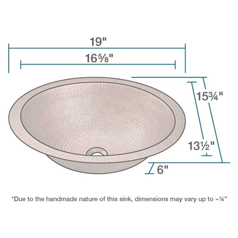 Metal Oval Undermount Bathroom Sink