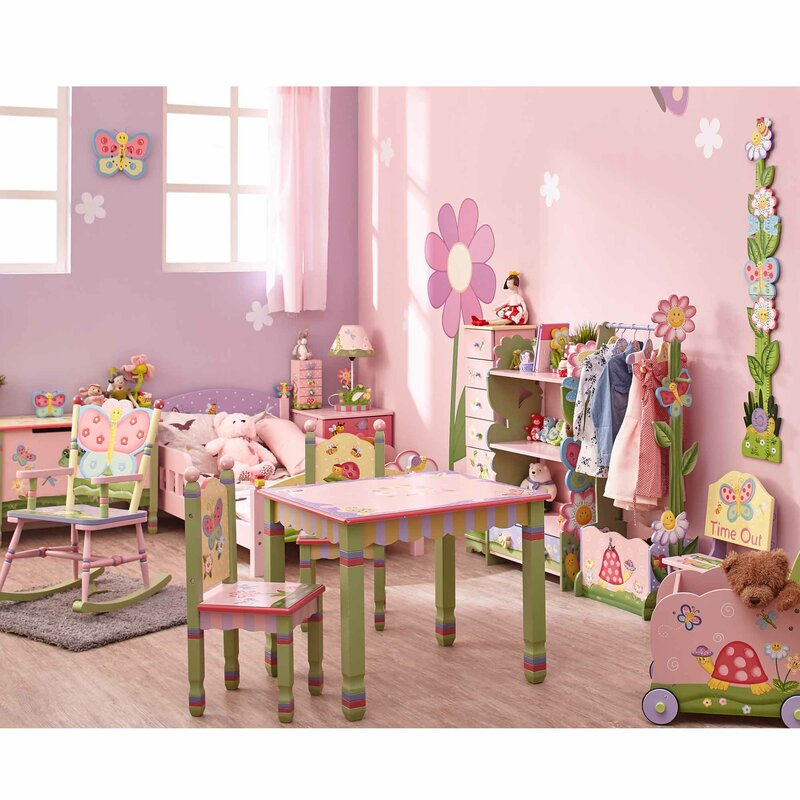 Magic Garden Kids 3 Piece Table u0026 Chair Set  sc 1 st  Wayfair & Fantasy Fields Magic Garden Kids 3 Piece Table u0026 Chair Set u0026 Reviews ...