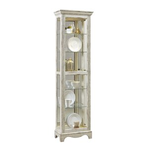 Davie Weathered Standard Curio Cabinet by..