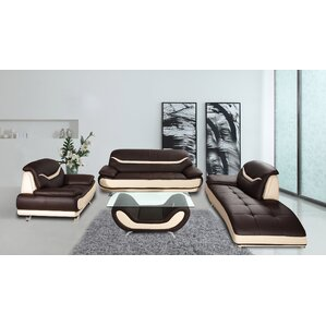 Phillipsburg 3 Piece Leather Living Room Set by Wade Logan