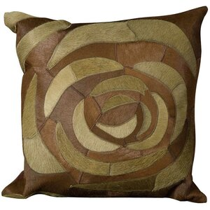 Siddiqui Natural Leather Hide Throw Pillow