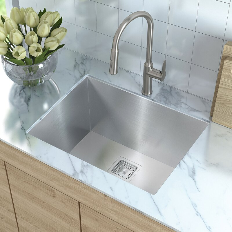 "Bathroom Sink 24 X 18 kraus pax™ 24"" x 18.5"" undermount kitchen sink & reviews 