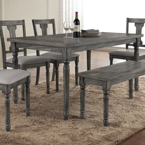 French Country Grey Kitchen & Dining Room Sets You\'ll Love   Wayfair