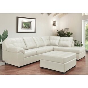 Wondrous Omnia Leather Fargo Leather Sectional With Ottoman Wayfair Pabps2019 Chair Design Images Pabps2019Com