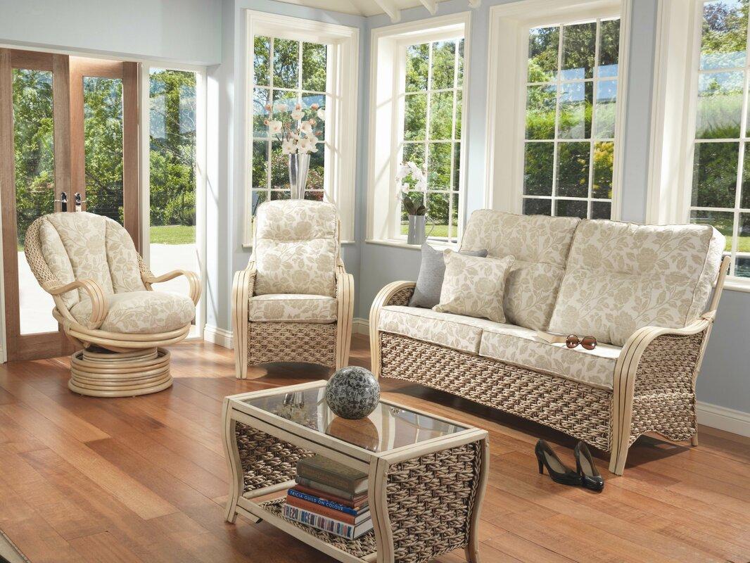 Rosalind Wheeler Alvey 4 Piece Conservatory Furniture Set