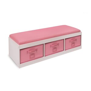 Auxier Kidu0027s Storage Bench With Cushion And Three Bins
