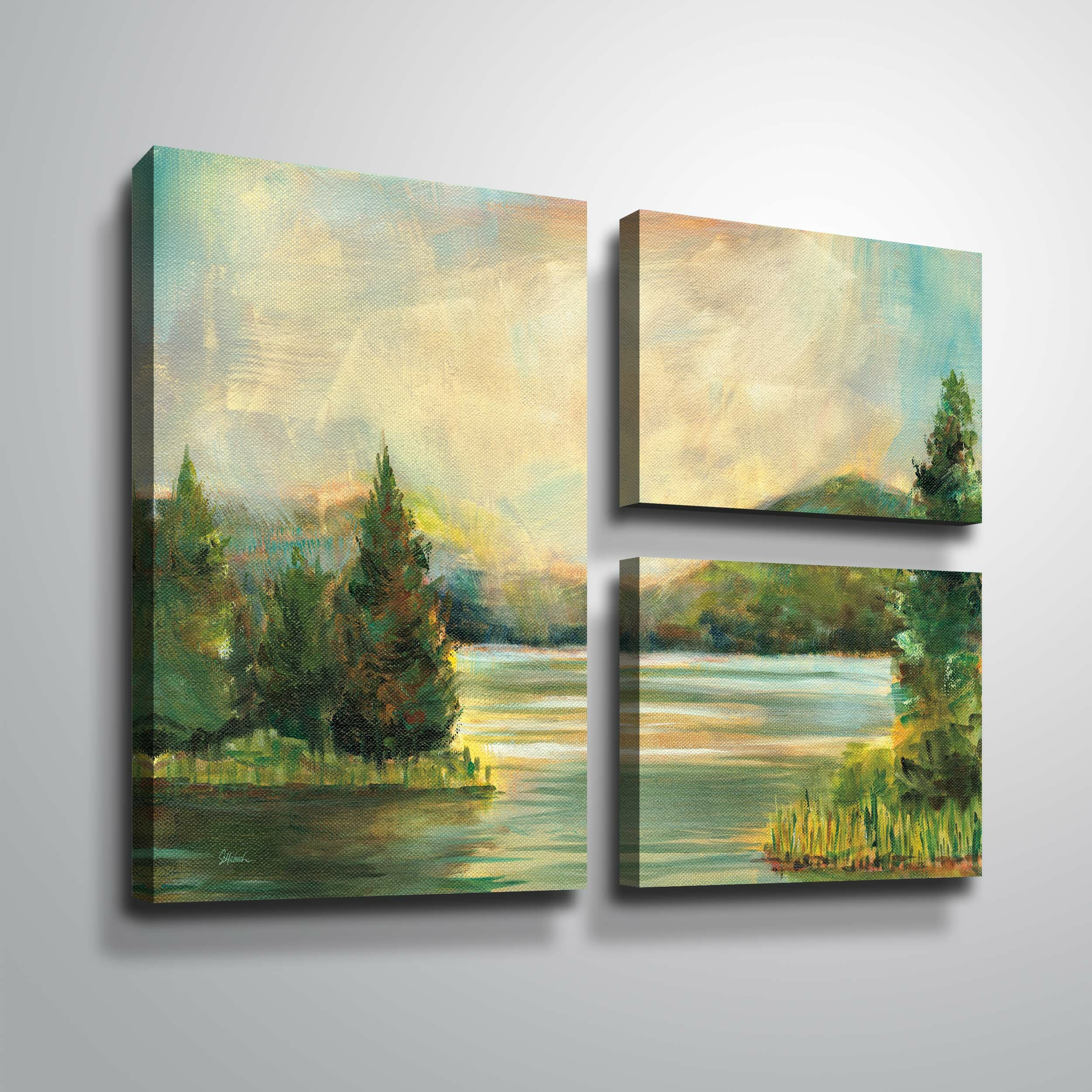 Charlton Home \'Silver Lake\' Oil Painting Print Multi-Piece Image on ...