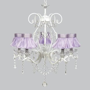 Purple shade chandeliers youll love wayfair grace 5 light crystal chandelier mozeypictures Images