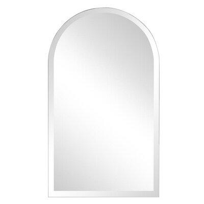 Brayden Studio Titcomb Frameless Arched Wall Mirror