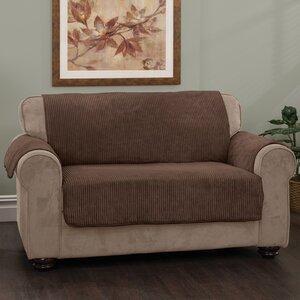 Plush Stripe Box Cushion Loveseat Slipcover