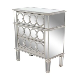 Ordinaire Marlee Modern And Mirror Lined 3 Drawer Accent Chest