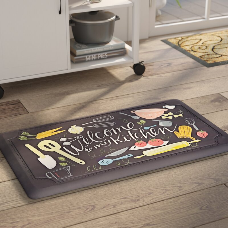 Bon Gothard Scattered Kitchen Dri  Pro Comfort Kitchen Mat