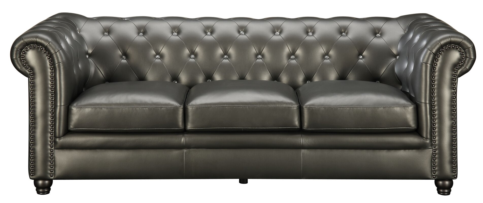Vanallen Leather Chesterfield Sofa & Reviews