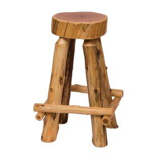 Traditional Cedar Log 30 Bar Stool