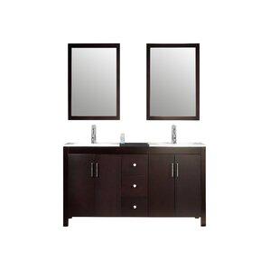 Palazzo 60-Inch Double Bathroom Vanity 60 inch double vanities you'll love | wayfair