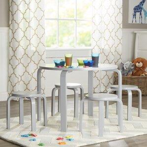 anrey kidsu0027 5 piece round table and stool set