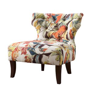 Elegant Glen Hourglass Tufted Wing Back Chair Amazing Ideas