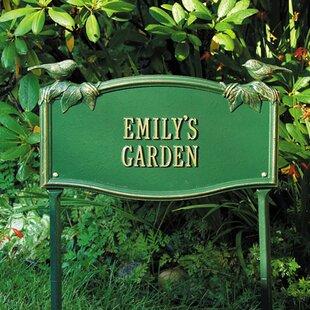 chickadee standard garden garden sign - Garden Plaques
