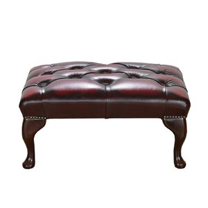 Hocker Chesterfield aus Leder von Portabello Interiors