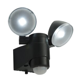 Pir security lights wayfair laryn 2 head led outdoor spotlight by saxby lighting aloadofball Images