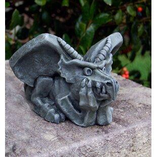 Thinking Gargoyle Statue. By Ladybug Garden Decor