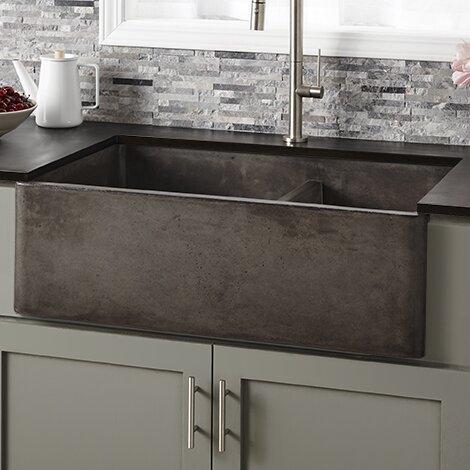 33 L X 21 W Double Basin Farmhouse Kitchen Sink