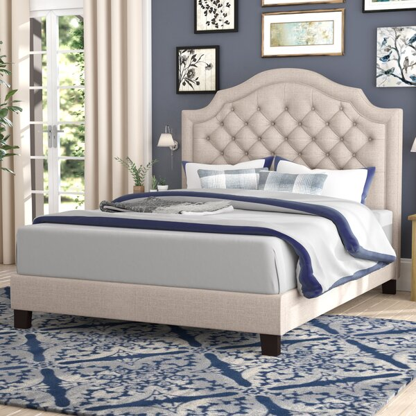 Julia Upholstered Panel Bed Amp Reviews Birch Lane