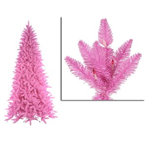 65 pink ashley spruce christmas tree with pink and clear lights - Pink Christmas Tree Lights