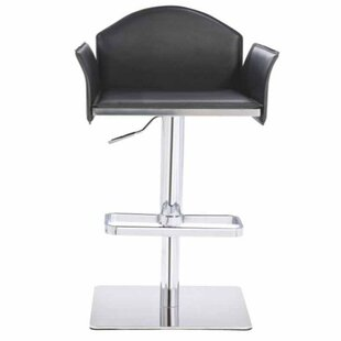 Camron Modern Adjustable Height Metal Framed Swivel Bar Stool