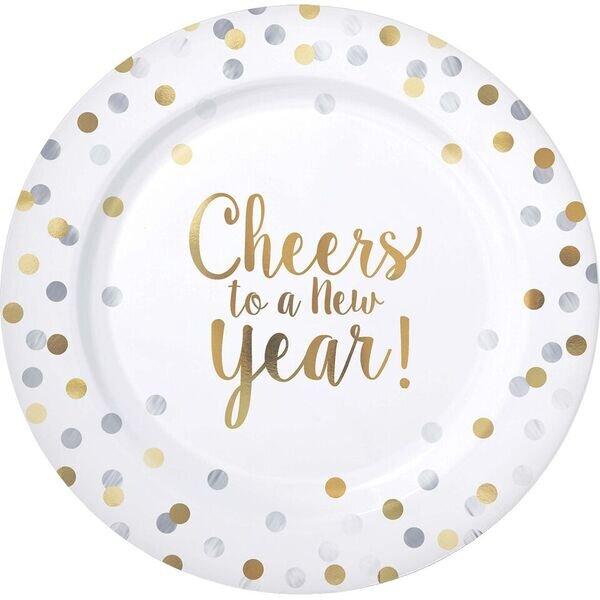 New Years Premium Plastic Dinner Plate  sc 1 st  Wayfair & Amscan New Years Premium Plastic Dinner Plate \u0026 Reviews | Wayfair