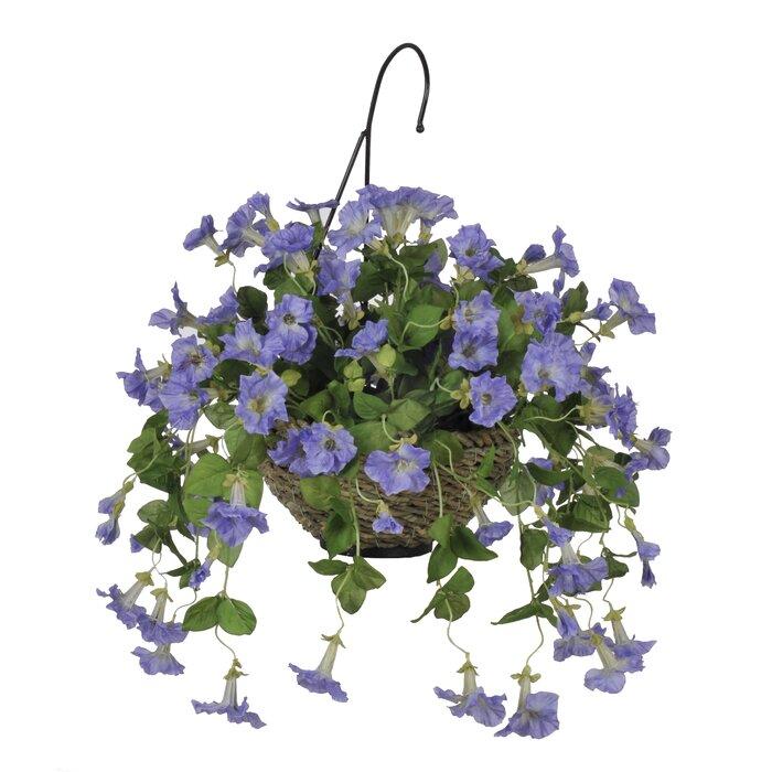 House of silk flowers artificial petunia hanging plant in basket artificial petunia hanging plant in basket mightylinksfo