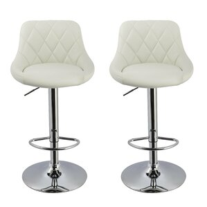 Acamar Adjustable Height Swivel Bar Stool (Set of 2) by Wade Logan