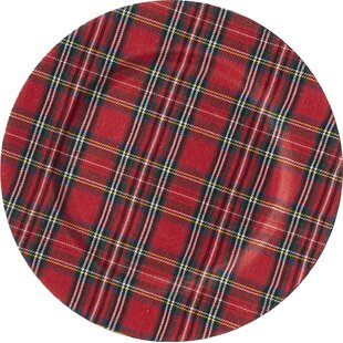 tartan plaid 13 charger set of 4 - Christmas Charger Plates