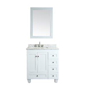 bathroom sink cabinets white. Lauder 31  Single Bathroom Vanity Set Vanities You ll Love Wayfair