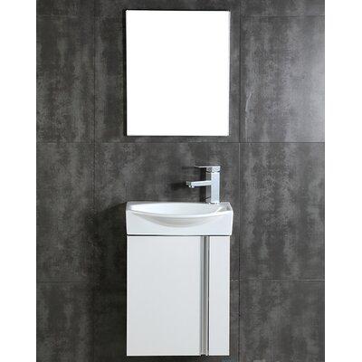 """Bathroom Mirrors Louisville Ky fresca senza 16"""" single bathroom vanity set with mirror & reviews"""