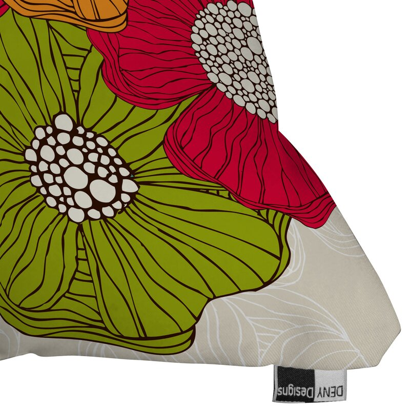 Deny designs valentina ramos flowers throw pillow for Deny designs free shipping code
