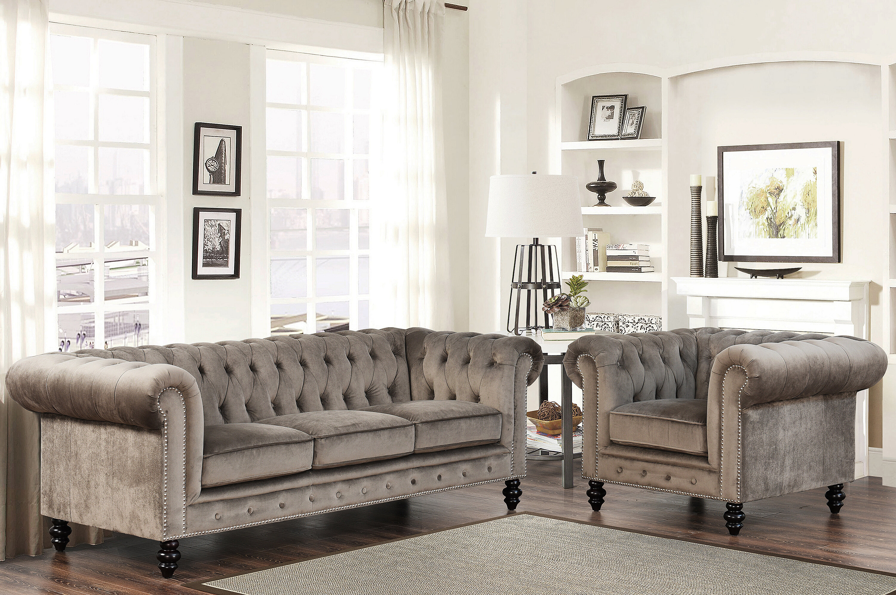 Mistana Brooklyn 2 Piece Living Room Set U0026 Reviews | Wayfair