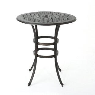 black metal outdoor furniture. Corle Outdoor Cast Aluminum Bar Table Black Metal Outdoor Furniture O