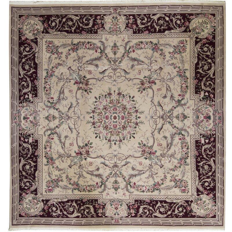 Bokara Rug Co., Inc. One-of-a-Kind Prince Quality Square 10 Wool Beige Area Rug