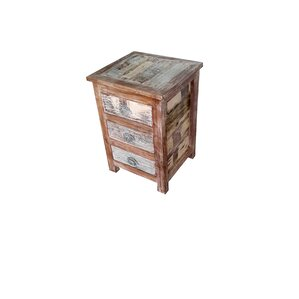 Binney Hand Painted End Table by Bungalow Rose