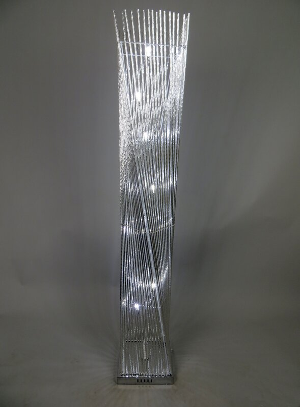 Bright Life Arends Cayan Tower Twisted Prism Led 150cm Novelty Floor Lamp Amp Reviews Wayfair Co Uk