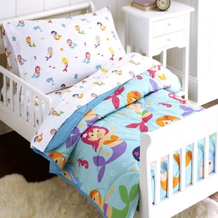 Delightful Mermaids 4 Piece Toddler Bedding Set