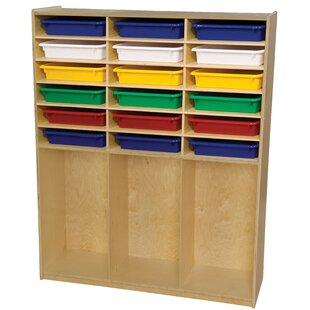 wood storage shelves with bins wayfair rh wayfair com Target Storage Bins Indoor Firewood Storage Bins