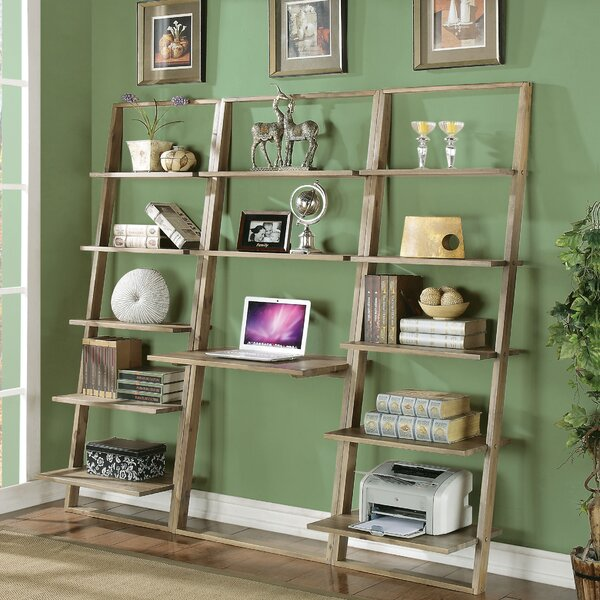 Leaning Desk With Bookcase Wayfair